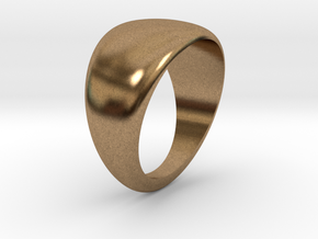 Simple ring in Natural Brass