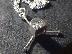 Philae Lander Pendant in Raw Silver