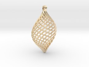 Twisted Pendant in 14K Yellow Gold