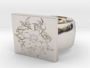 Flower  Ring Version 5 in Platinum