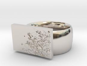 Flower  Ring Version 7 in Platinum
