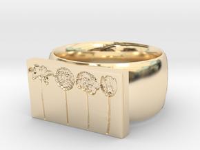 Flower Ring Version 9 in 14K Yellow Gold
