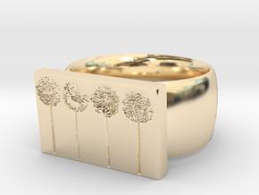 Flower Ring Version 10 in 14K Yellow Gold