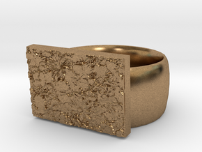 Flowers Ring Version 10 in Natural Brass
