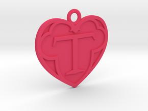 Logo Pendant in Pink Processed Versatile Plastic