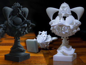 Surreal Chess Set - My Masterpieces - The Queen in Black Natural Versatile Plastic