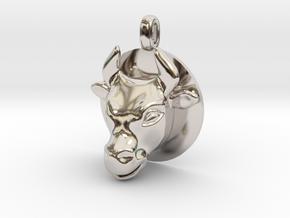 BULL Jewelry Head Design Zodiac Pendant in Platinum