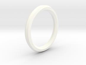 Heptagon Ring in White Processed Versatile Plastic