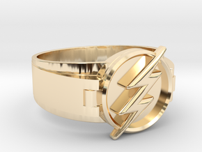 Flash Ring Size 14 23mm   in 14K Yellow Gold