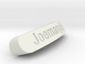 Joemangle Nameplate for SteelSeries Rival in White Strong & Flexible