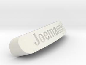 Joemangle Nameplate for SteelSeries Rival in White Strong & Flexible