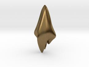 Space Shark, Pendant in Natural Bronze