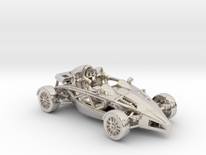 "Atom HO scale model w/o wings 1.6"" RHD in Platinum"