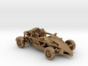 """Atom HO scale model w/o wings 1.6"""" RHD in Natural Brass"""