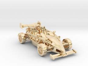 """Atom HO scale model w/wings 1.7"""" RHD in 14K Yellow Gold"""