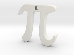 Pi in White Natural Versatile Plastic