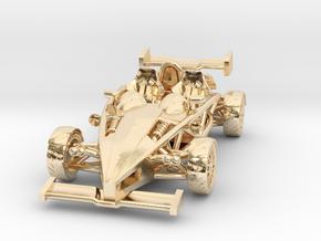 """Atom HO scale model w/wings 1.7"""" LHD in 14K Yellow Gold"""