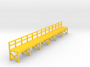 N Scale Train Maintenance Platform in Yellow Processed Versatile Plastic