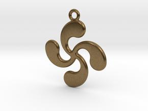 Cross Basque in Natural Bronze