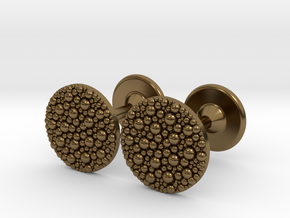 Granulated Cufflinks  in Polished Bronze