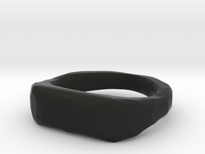 """Play"" ring 1-st edition, ""Player"" jewelry collect in Black Natural Versatile Plastic"