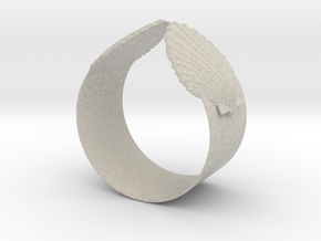 Napkin Scallop Ring in Natural Sandstone