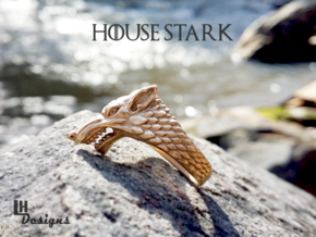 Size 7 Direwolf Sigil Ring in Raw Bronze: 7 / 54