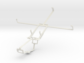 Controller mount for Xbox One & Lenovo IdeaTab A21 in White Natural Versatile Plastic