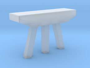 N Scale Bridge Pier (Low)  #1 in Smooth Fine Detail Plastic