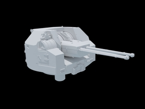 Vickers Three Inch QF AA. 1/350 Scale. X2 in Smooth Fine Detail Plastic