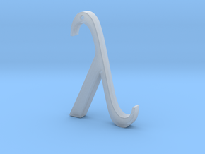 "The Greek Letter ""Lambda"" in Smooth Fine Detail Plastic"