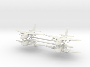 1/350 ES-3A Viking (x4) in White Natural Versatile Plastic