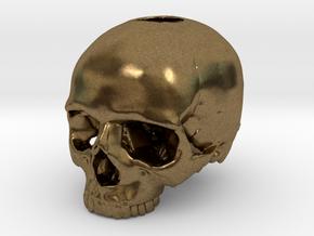 Skull in Natural Bronze