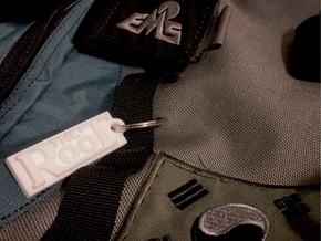 The Root - Bag Tag with Address on Back in White Natural Versatile Plastic