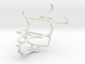 Controller mount for PS4 & LG Optimus L1 II E410 in White Natural Versatile Plastic