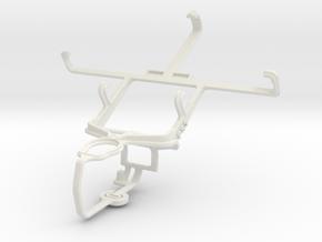 Controller mount for PS3 & LG Optimus L7 II P710 in White Natural Versatile Plastic