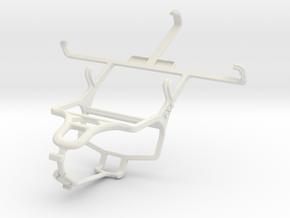 Controller mount for PS4 & LG Optimus L9 P769 in White Natural Versatile Plastic
