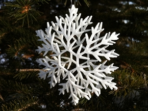 Snowflake Ornament in White Strong & Flexible