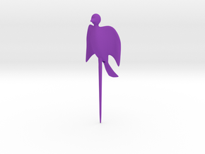 Bird shaped fork in Purple Processed Versatile Plastic