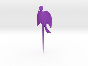 Bird shaped fork in Purple Processed Versatile Plastic