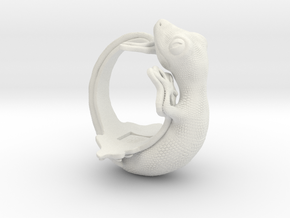 Gecko Size15 in White Natural Versatile Plastic
