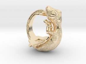 Gecko Size9 in 14K Yellow Gold
