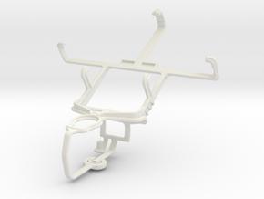 Controller mount for PS3 & Motorola Defy Pro XT560 in White Natural Versatile Plastic