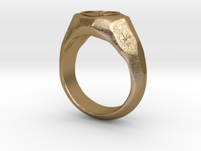 """US 7 size """"Play"""" ring, second edition. in Polished Gold Steel"""