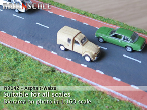 Asphalt-Walze (56 mm breit) in White Strong & Flexible