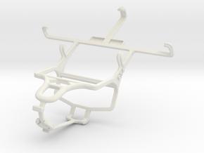 Controller mount for PS4 & Motorola DROID RAZR M in White Natural Versatile Plastic