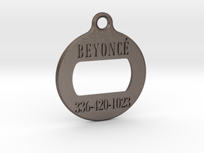 BEYONCE in Polished Bronzed Silver Steel