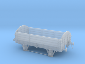 Old-timer freight gondola HO-OO scale  in Smooth Fine Detail Plastic