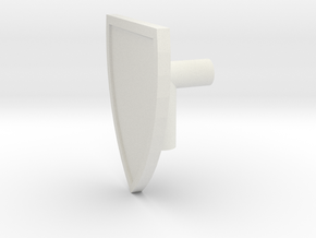 Heater Shield v.2 (Dual Use Held / Mounting) in White Natural Versatile Plastic