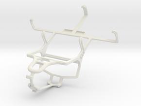 Controller mount for PS4 & Motorola Photon Q 4G LT in White Natural Versatile Plastic